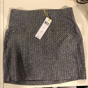 BRAND NEW BCBG Silver Mini Skirt